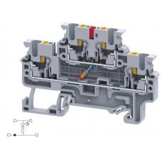Арт. CPDL2.5(E)LD1 Двухуровневая клемма, пружинные зажимы проводника до 2.5 мм.кв. 1A/600V со схемой конфигурации LD1