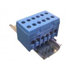 Арт. N 8+4 Вводно-распределительный клеммный блок с винтовыми зажимами проводника. Входы 2*25 мм.кв., 4*16 мм.кв.