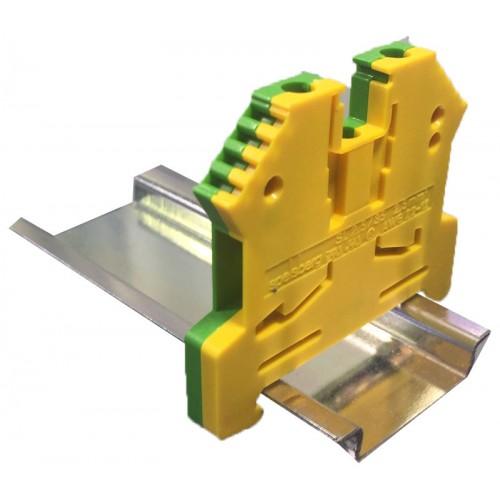 Арт. SL 2,5/35 Клемма заземления на DIN-рейку с винтовыми зажимами для проводника до 4 мм.кв.