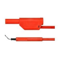 Арт. AL 8321 / ZPK / 1 / 25 Комплект измерительный (щуп + штекер), штекер банан диаметром 4 мм.. Тестовый пробник типа пинцет с зажимом из нерж. проволоки захват до 3 мм.. Напряжение 600 V CATII 19 А. Провод соединительный с сечением проводника 1 мм.кв.,