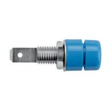 Арт. IBU 5568 Ni Гнездо под штекер банан, диаметром 4 мм., для стационарной установки. Напряжение 33 VAC/70 VDC 32 А. Подключение через ножевой кабельный наконечник 4.8 mm x 0.8 mm Контактные части никелированные.
