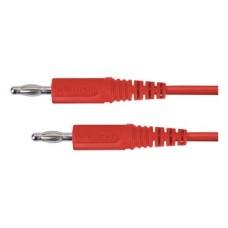 Арт. MFK 09 / 1 / 25 Провод соединительный, штекера банан диаметром 4 мм. Напряжение 33 VAC/70 VDC 16 А Контактные части никелированные.. Провод соединительный с сечением проводника 2.5 мм.кв., длинна 25 см., изоляция ПВХ двойная.